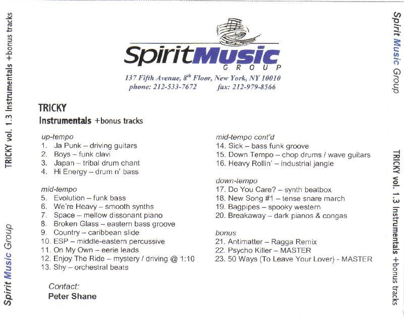 Tricky [promo CD set: Vol 1 1 - Vol  1 4]